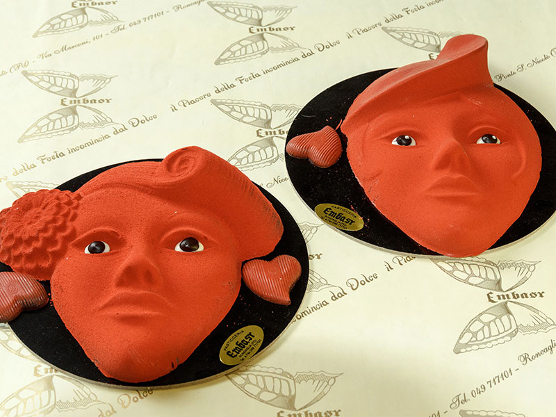 Maschera veneziana di velluto