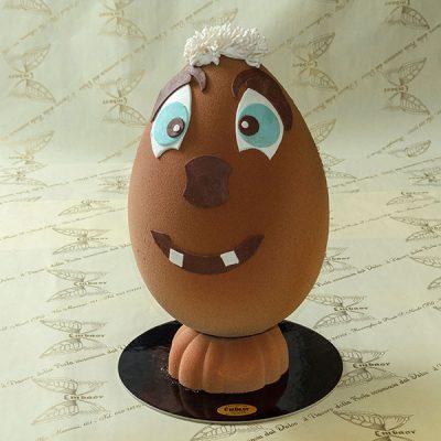 Uova di cioccolato effetto velluto